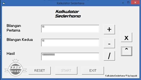 tutorial visual basic kalkulator tutorial membuat kalkulator pada microsoft visual basic