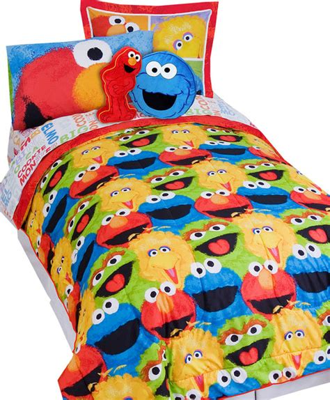 sesame street full comforter shams set elmo chalk bedding