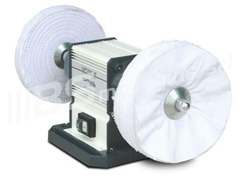 lucidatrice da banco mola pulitrice per metalli 230v optimum gu 20p