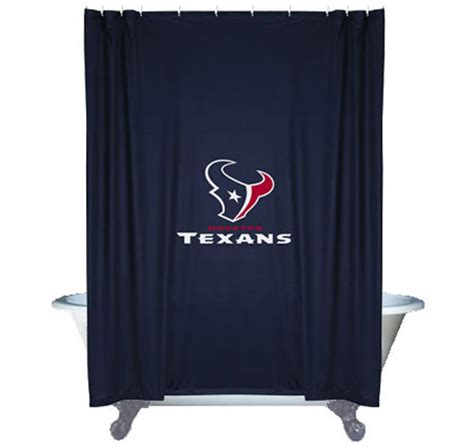 Football Bathroom Accessories Nfl Houston Texans Shower Curtain Football Bathroom Accessories