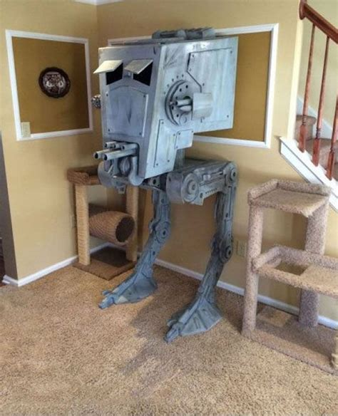 Guy builds iconic at st star wars cat house cat houses star and cat