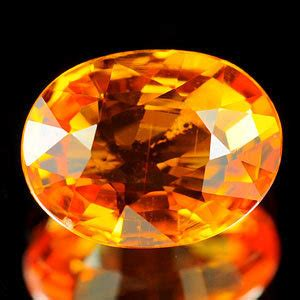 genuine orange sapphire 1 13ct 7 2 x 5 6 x 3 1mm tanzania si