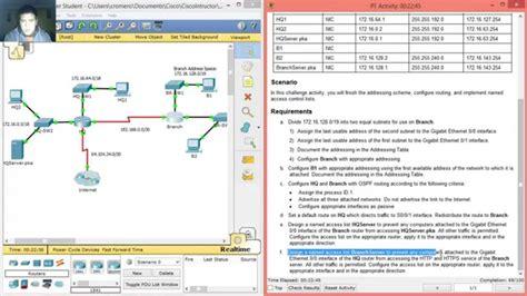 packet tracer skills integration challenge answers 9 4 2 8 packet tracer skills integration challenge