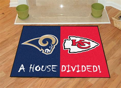 what city are the rams from st louis rams vs kansas city chiefs house divided rug
