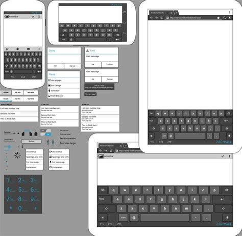 wireframe templates for android android ics stencil wireframesketcher