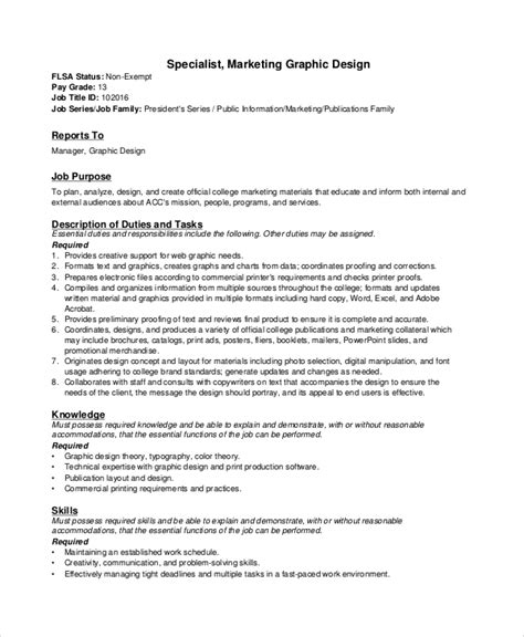 graphics design description 9 sle graphic designer job descriptions pdf doc