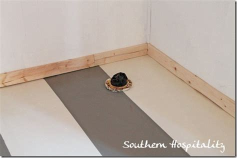Garage Base Molding by Painting Stripes On Concrete Floor
