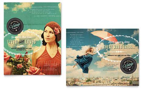 design poster using publisher vintage clothing poster template design