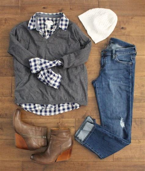 Sweater Ak Sweater Wanita Babyterry Navy 6 navy gingham shirt a grey v neck sweater boyfriend wedge booties and a