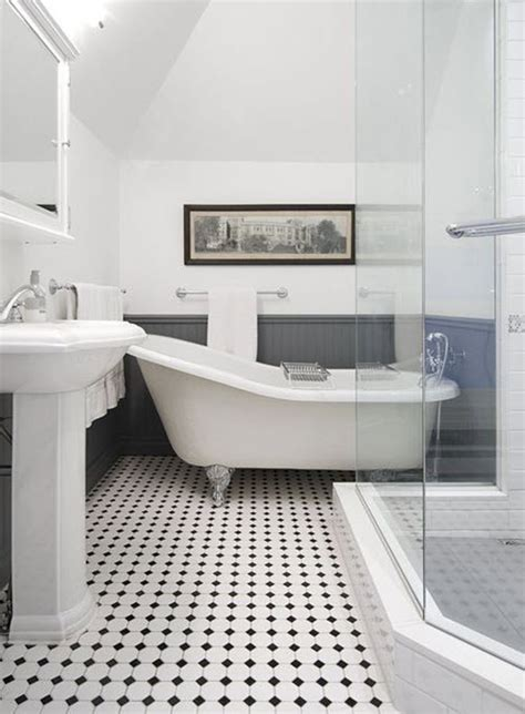 bathroom with black and white tile floor 40 black and white bathroom floor tile ideas and pictures