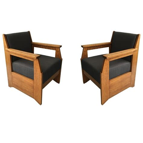 Made Armchairs by Pair Of Oak Armchairs Made By Hendrik Wouda Produced By Pander And For Sale At 1stdibs