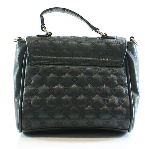Quilted Black Purse by Betsey Johnson New Black Quilted Faux Leather Cross