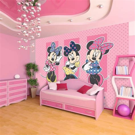 minnie mouse kids bedroom this pretty in pink digital mural featuring disney s most