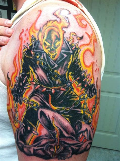 ghostrider tattoo by rgalvan on deviantart