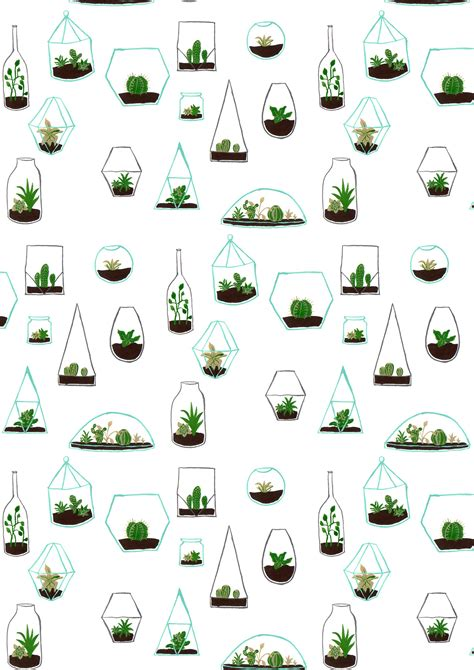 cute easy pattern simple terrarium pattern drawing proves you can make cute