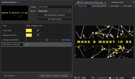 template after effects gfx creating motion graphics templates in adobe after effects