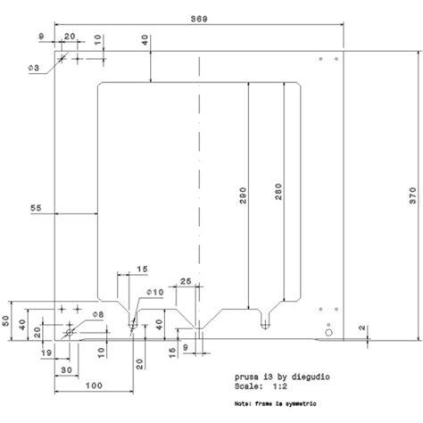 Dimensions Of prusa i3 frame dimensions laevus