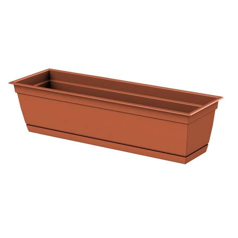 clay window box dayton 24 0 in x 6 70 in clay plastic window box 486241