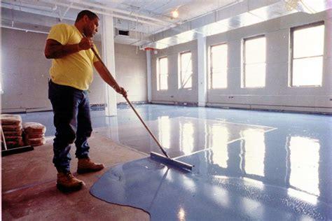 garage floor covering installation   build  house