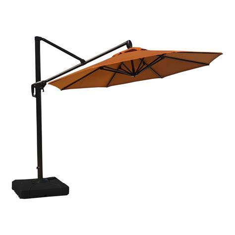 10 ft patio umbrella rst brands 10 ft aluminum tilt patio umbrella in