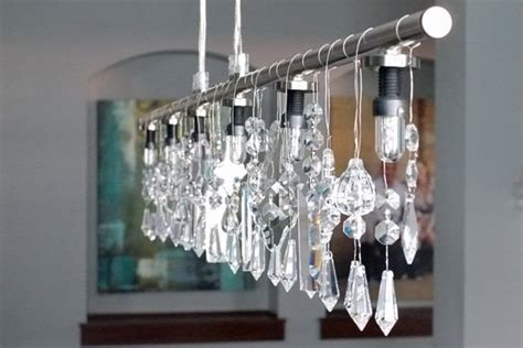 Linear Crystal Chandelier 183 How To Make A Hanging Light Linear Strand Chandelier