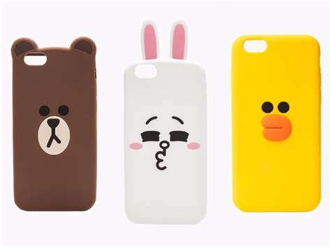 Iphone 6 6s 3d Silicone Line Brown Cony Striped Cowboy T1910 4 line friends character iphone 6 6s silicone 3 types
