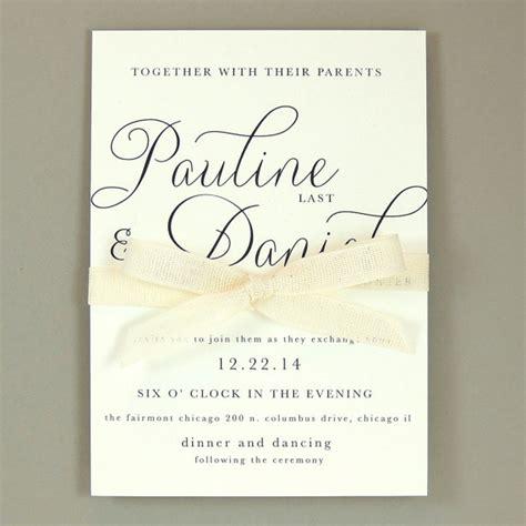 simple wedding invitation format pauline suite modern wedding invitation