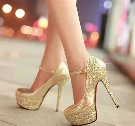 Gold Heels For Wedding by Gold Glitter Pumps Heels Shoes Shoes