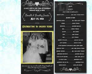 50th wedding anniversary program 50th wedding anniversary 50th wedding program 50th annivers