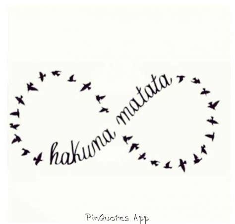 infinity tattoo hakuna matata hakuna matata infinity sign infinity pinterest