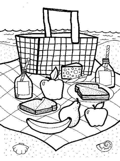 free coloring pages of picnic