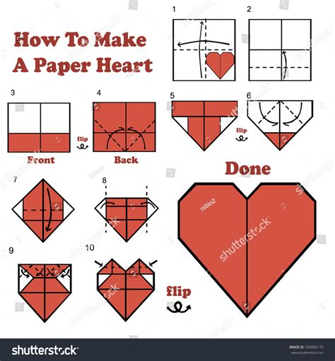 How To Make A Shape Paper - how to make a paper stock vector illustration