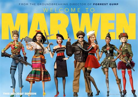 filme schauen welcome to marwen welcome to marwen new trailer and character posters