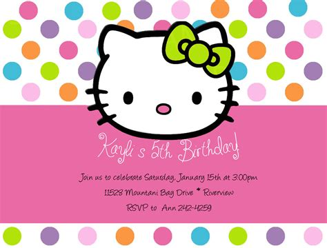 invitation layout hello kitty hello kitty party invitations theruntime com
