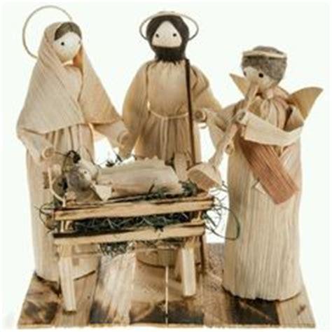 corn husk doll nativity set paper twist on nativity napkin rings and
