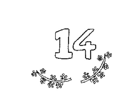 number 14 coloring page coloring pages