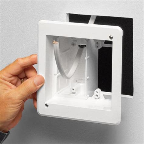 recessed outlet for ac adapter recessed multiple gang tv box for power and low voltage