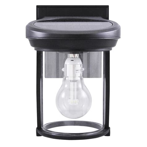 Gama Sonic Solar Coach 1 Light Black Outdoor Wall Lantern Outdoor Solar Carriage Lights