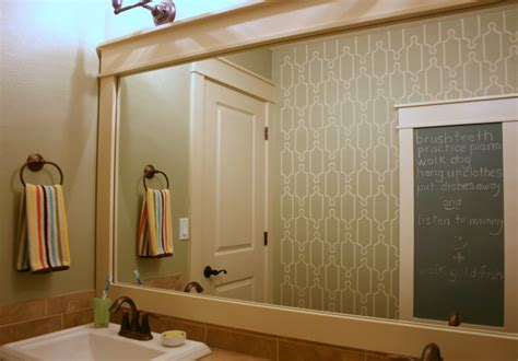 Framed Mirrors For Bathrooms Fantastic Framed Mirror Decorating Ideas Images In Bathroom Traditional Design Ideas