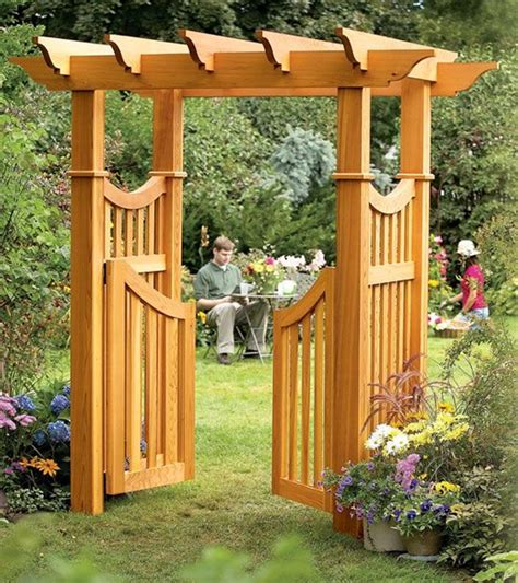backyard arbors pictures garden arbor plans home design ideas and pictures