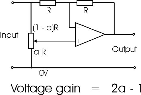 variable resistor formula operational lifier variable gain circuit radio electronics