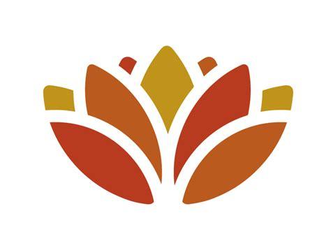 lotus flower logo by eric karbeling dribbble