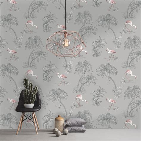 flamingo wallpaper ebay flamingo wallpaper arthouse vintage lagoon holden lake