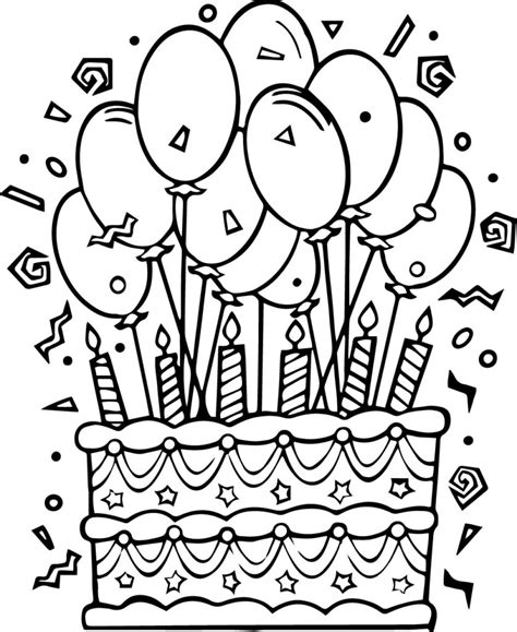 june birthday coloring pages coloring pages birthday cake coloring pages