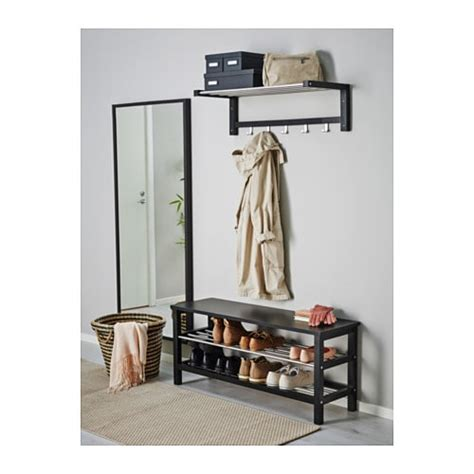 tjusig bench with shoe storage tjusig bench with shoe storage black 108x50 cm ikea