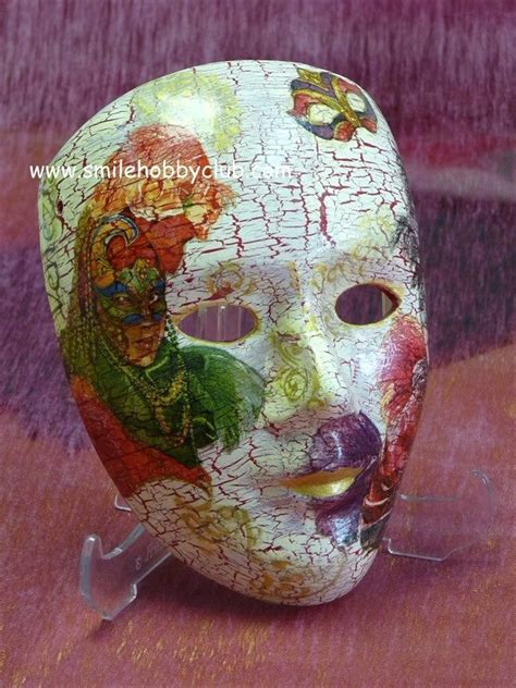 Decoupage Mask - decoupage craft ideas