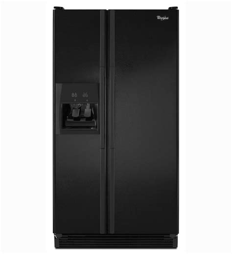 whirlpool 174 25 cu ft side by side refrigerator ed5chqxvb black