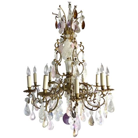 Amethyst Chandelier 19th Century Amethyst Quartz Rock And Quart Chandelier For Sale At 1stdibs