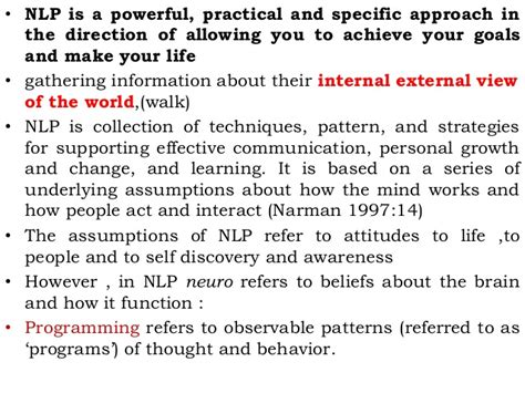 awareness pattern nlp the phases of speech