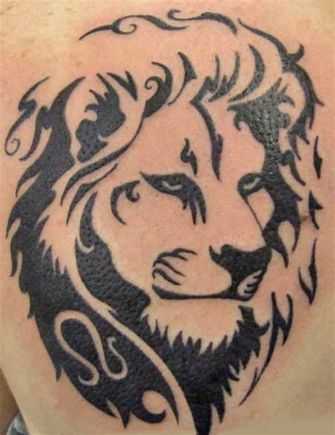 Tribal lion tattoos high quality photos and flash designs of tribal